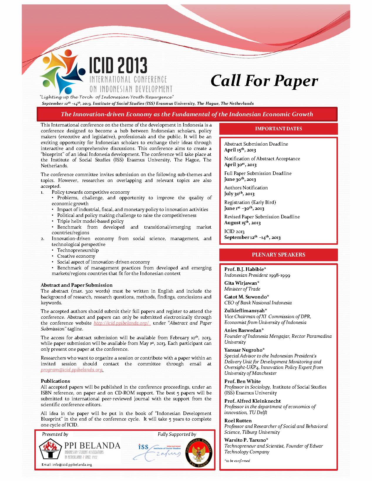call for papers 19th international business research conference